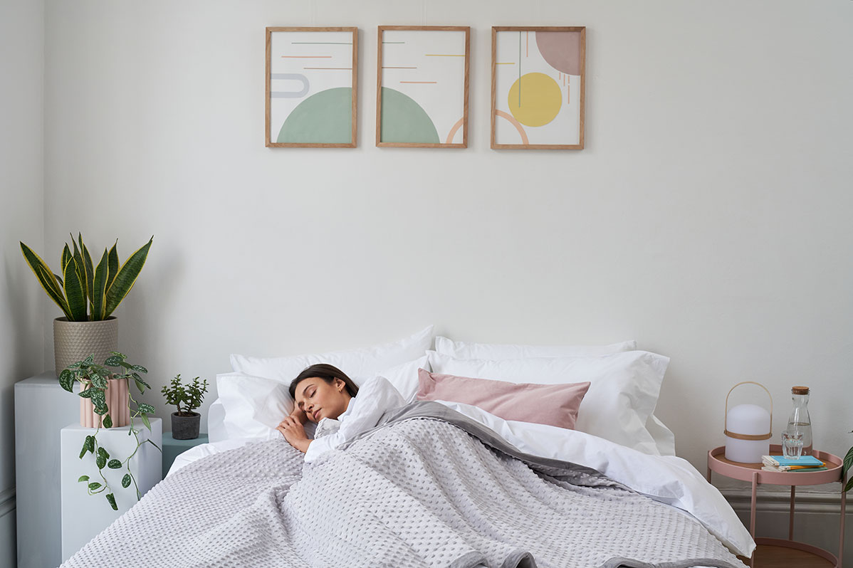 According to Healthline studies show that weighted blankets reduce anxiety in 33% of users